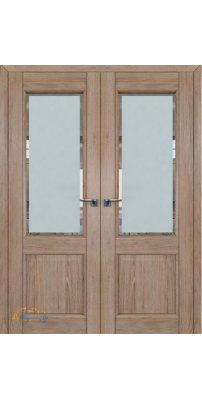 Двустворчатая дверь 2.42XN солинас светлый, стекло square