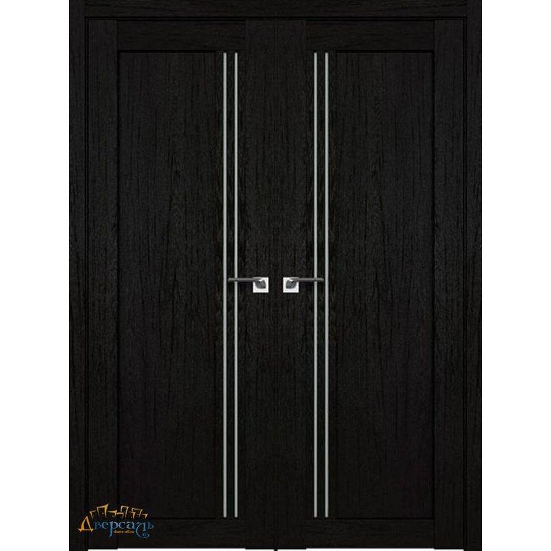 Двустворчатая дверь 2.50XN даркбраун, стекло матовое