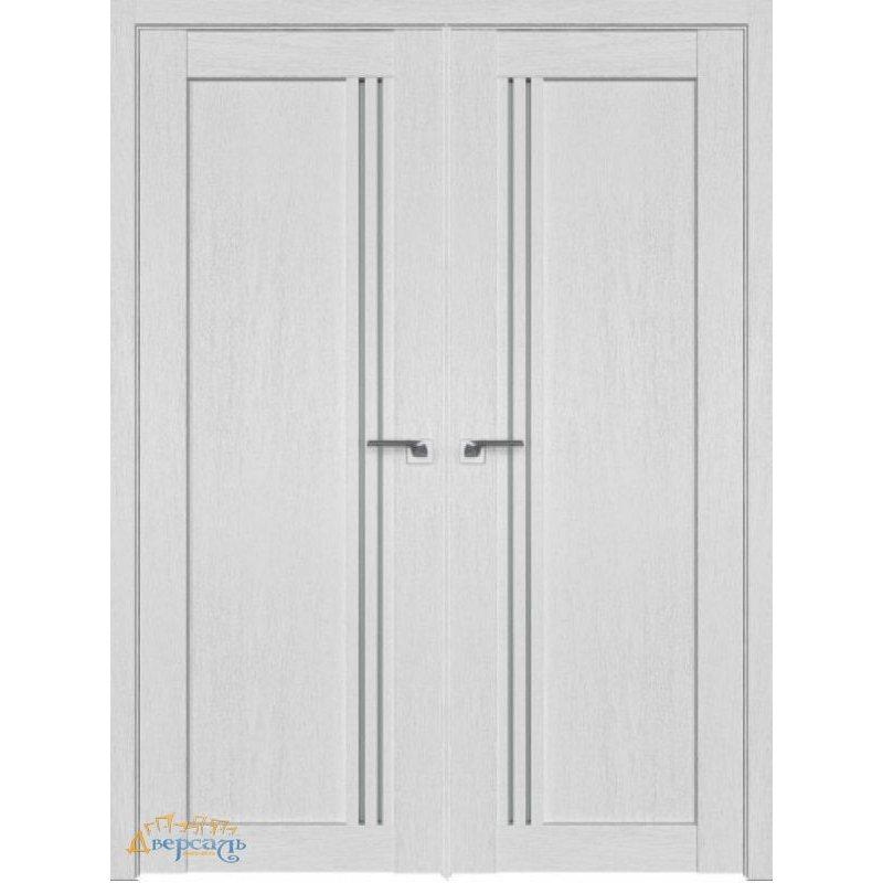 Двустворчатая дверь 2.50XN монблан, стекло матовое