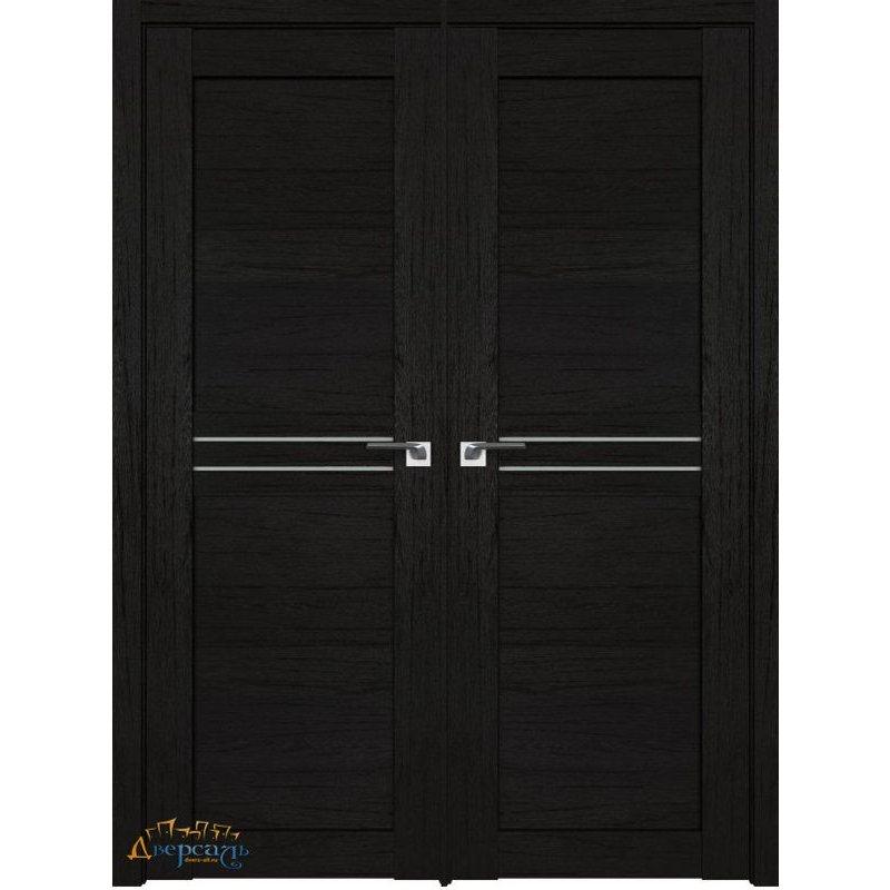 Двустворчатая дверь 2.55XN даркбраун, стекло матовое