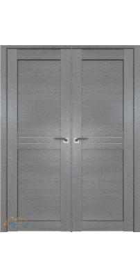 Двустворчатая дверь 2.55XN грувд, стекло матовое