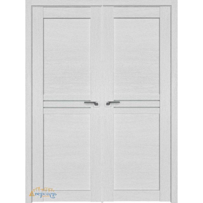 Двустворчатая дверь 2.55XN монблан, стекло матовое