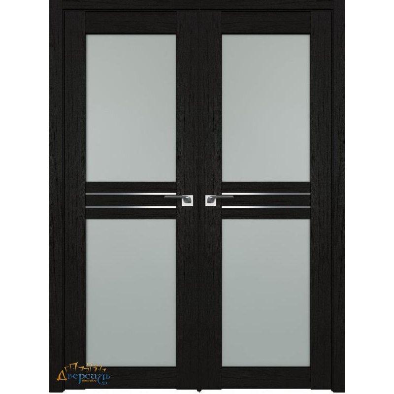Двустворчатая дверь 2.56XN даркбраун, стекло матовое AL