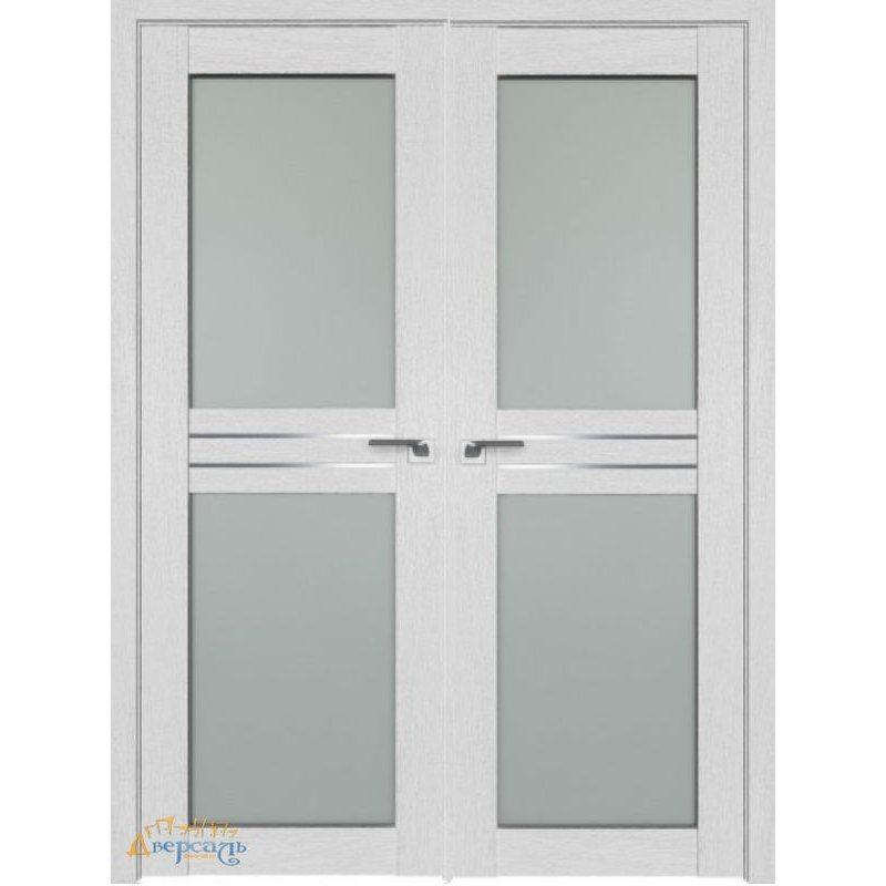 Двустворчатая дверь 2.56XN монблан, стекло матовое AL