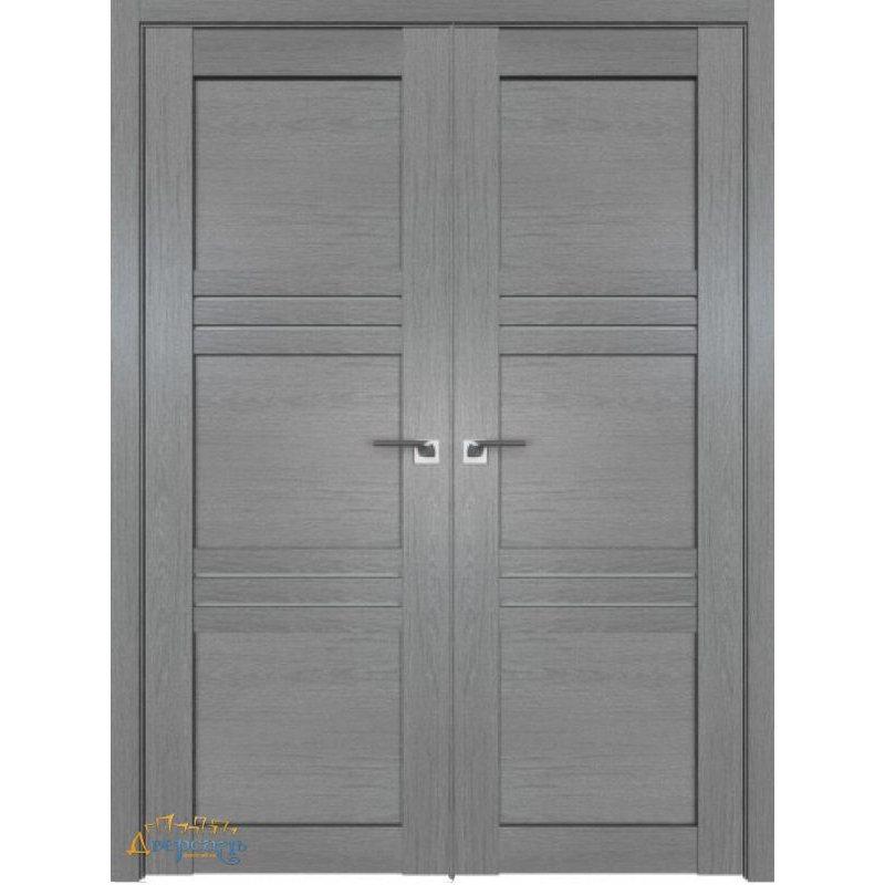 Двустворчатая дверь 2.57XN грувд, стекло матовое
