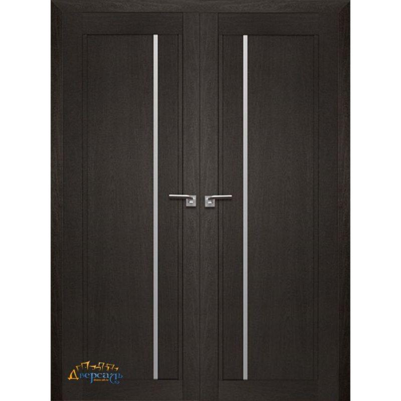 Двустворчатая дверь 2.70XN даркбраун, стекло матовое