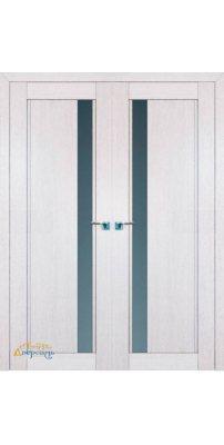 Двустворчатая дверь 2.71XN монблан, стекло матовое