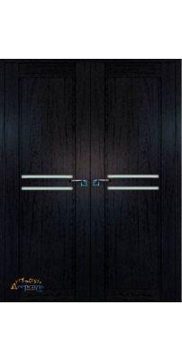 Двустворчатая дверь 2.75XN даркбраун, стекло матовое