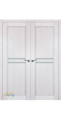 Двустворчатая дверь 2.75XN монблан, стекло матовое