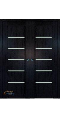 Двустворчатая дверь 2.76XN даркбраун, стекло матовое