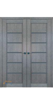 Двустворчатая дверь 2.76XN грувд, стекло графит