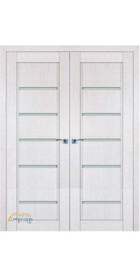 Двустворчатая дверь 2.76XN монблан, стекло матовое