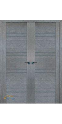 Двустворчатая дверь 2.80XN грувд, стекло графит