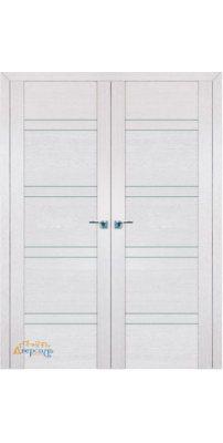 Двустворчатая дверь 2.80XN монблан, стекло матовое