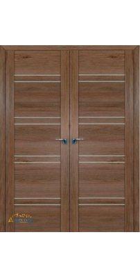 Двустворчатая дверь 2.80XN солинас темный, стекло матовое