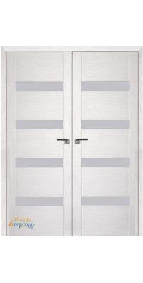 Двустворчатая дверь 2.81XN монблан, стекло матовое