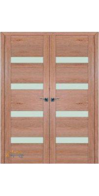 Двустворчатая дверь 2.81XN солинас светлый, стекло матовое