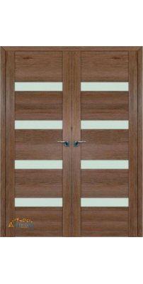 Двустворчатая дверь 2.81XN солинас темный, стекло матовое