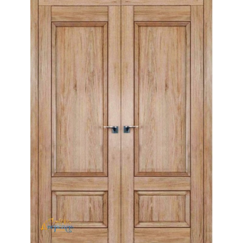 Двустворчатая дверь 2.89XN солинас светлый, глухая