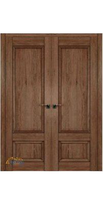 Двустворчатая дверь 2.89XN солинас темный, глухая