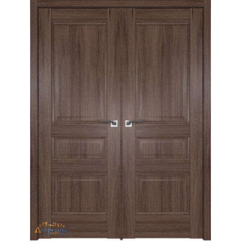 Двустворчатая дверь 95XN солинас темный, глухая