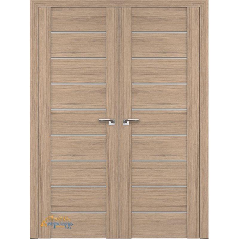 Двустворчатая дверь 98XN солинас светлый, стекло матовое