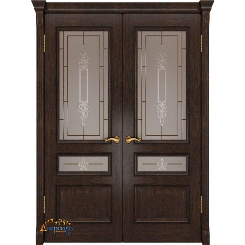 Двустворчатая дверь ФЕМИДА-2 мореный дуб ПО