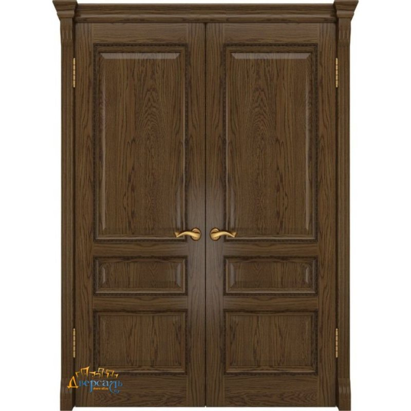 Двустворчатая дверь ФЕМИДА-2 светлый мореный дуб ПГ
