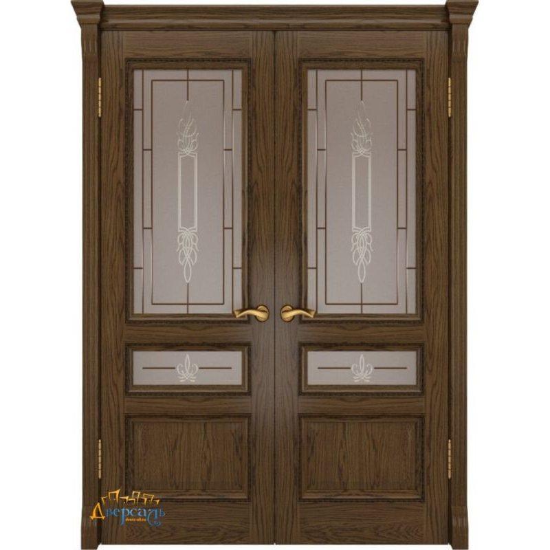 Двустворчатая дверь ФЕМИДА-2 светлый мореный дуб ПО