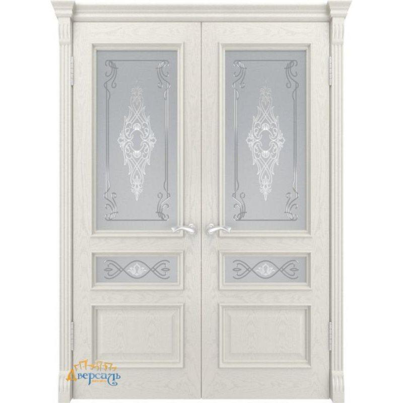 Двустворчатая дверь ГЕРА-2 дуб RAL 9010 ПО