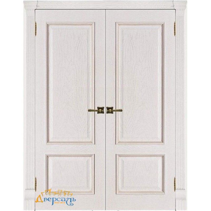 Двустворчатая дверь ГРАНД-1 patina bianko ПГ