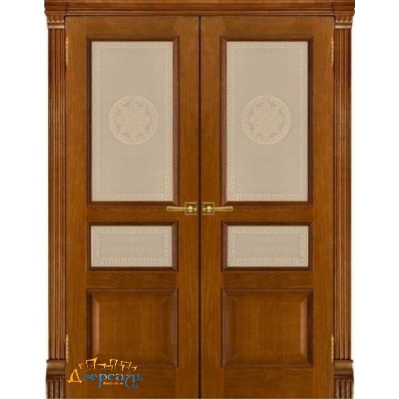 Двустворчатая дверь ГРАНД-2 patina antico ПО Версаче