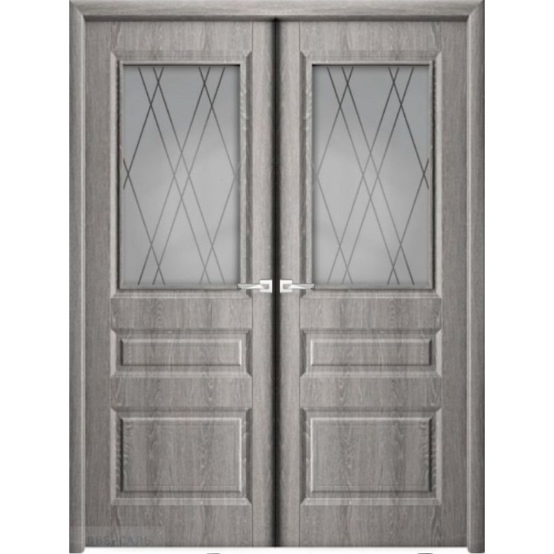 Двустворчатая дверь КАСКАД дуб филадельфия грей ПО