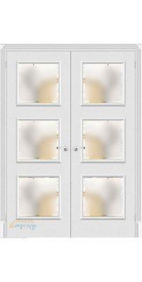 Двустворчатая дверь КЛАССИКО-17.3 virgin