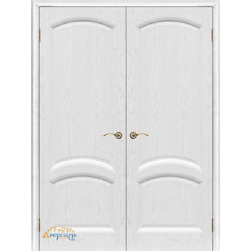Двустворчатая дверь ЛАУРА жемчужный ясень ПГ