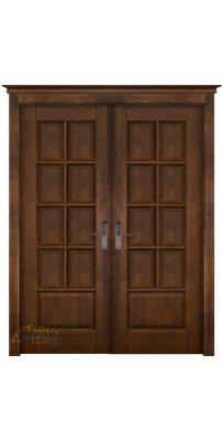 Двустворчатая дверь ЛОНДОН 1 античный орех ПГ