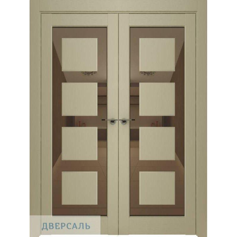 Двустворчатая дверь Neo 00001, серена керамик ПДЗ bronze