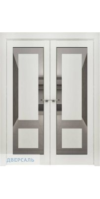 Двустворчатая дверь Neo 00003, серена белый ПДОз