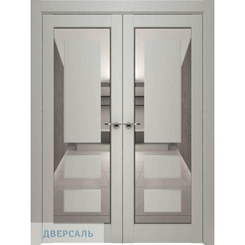 Двустворчатая дверь Neo 00005, серена светло-серый ПДЗ grey