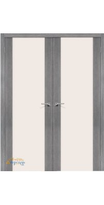 Двустворчатая дверь ПОРТА-13 grey veralinga