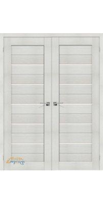 Двустворчатая дверь ПОРТА-22 bianco veralinga