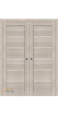 Двустворчатая дверь ПОРТА-22 cappuccino veralinga