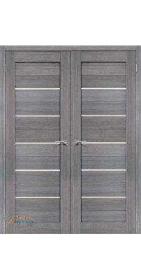 Двустворчатая дверь ПОРТА-22 grey veralinga