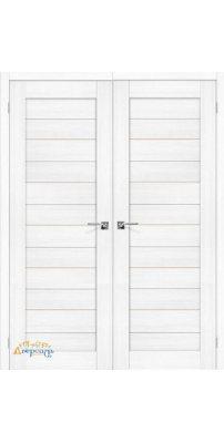 Двустворчатая дверь ПОРТА-22 snow veralinga