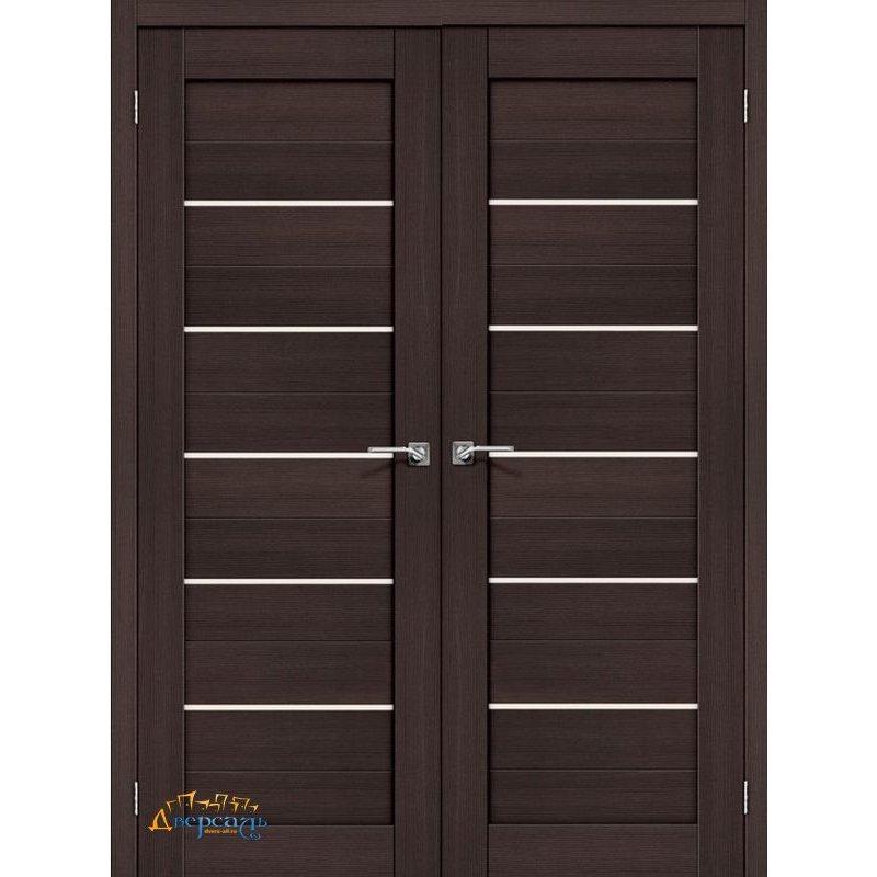 Двустворчатая дверь ПОРТА-22 wenge veralinga