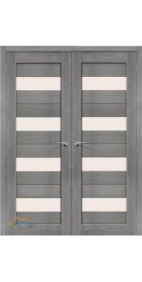 Двустворчатая дверь ПОРТА-23 grey veralinga
