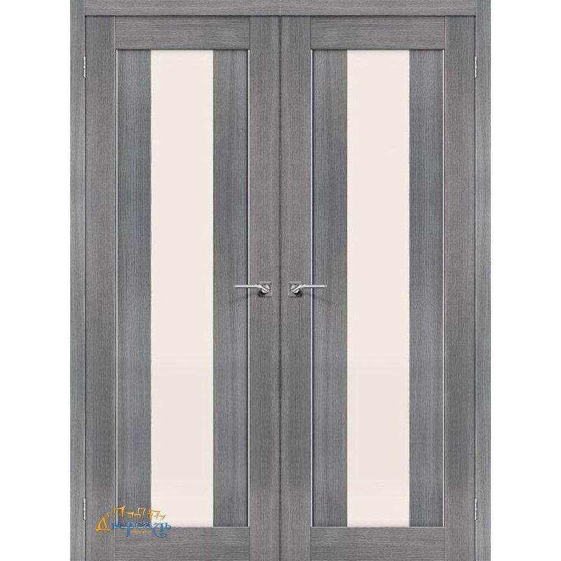 Двустворчатая дверь ПОРТА-25 alu grey veralinga