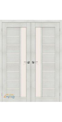 Двустворчатая дверь ПОРТА-27 bianco veralinga