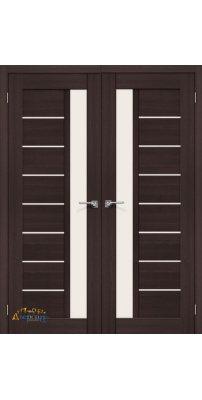 Двустворчатая дверь ПОРТА-27 wenge veralinga