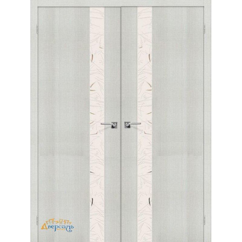 Двустворчатая дверь ПОРТА-51 bianco crosscut SA
